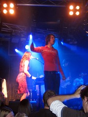 Jon McClure on stage at Edinburgh's Liquid Room with Reverend and the Makers (1)