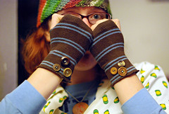 button sock mitts