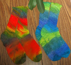 Knit Paint Socks by Fly Designs at Little Knits