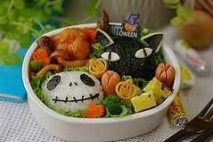 Happy Halloween bento box (luckysundae) Tags: halloween jack kawaii bento nightmarebeforechristmas obento japanesebento