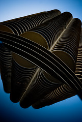 corncob meet pappas (Diana Pappas) Tags: sky chicago building architecture il portfolio marinacity corncobs utatafeature colorphotoaward shootingwithsmackandp2wy thatsitfortonightimspentmuchmoretomorrow