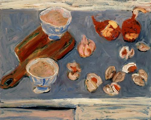 "Clam Bake - oil on canvas 24"" x  28"" $900"