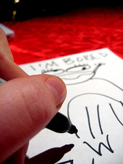 43/365: I'm bored (chalupabatman) Tags: shadow portrait me self paper hand drawing frog sp marker thumb sharpie 365 365days