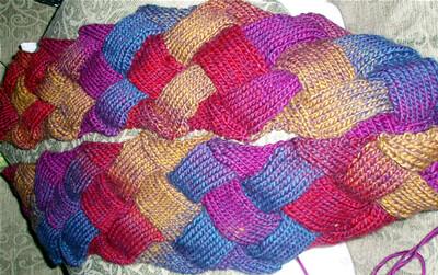 entralac scarf