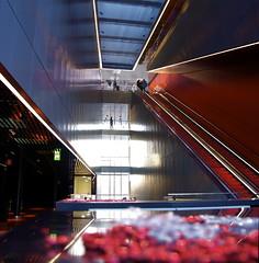 Main entrance hall (d.lindholm) Tags: architecture modern aluminum sweden uppsala concerthall ukk nikon18200mm nikond40x uppsalakonsertochkongress uppsalaconcerthall