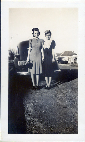 Two Women and Car