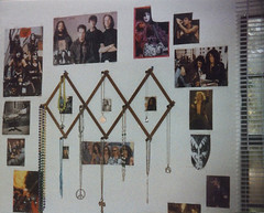 Past Perfect--crazy rockstar and jewelry wall, late-1995 (the catalyst...) Tags: school music house home rock collage wall kids star high bedroom gulf florida interior room decoration jewelry highschool 1995 breeze decor nineties 90s necklaces gulfbreeze