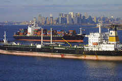 INDAMEX COLORADO & SKIROPOULA in New York, USA. 2005 (Tom Turner - SeaTeamImages / AirTeamImages) Tags: city nyc usa newyork water skyline port island bay coast harbor boat marine colorado ship unitedstates harbour manhattan transport shoreline vessel spot cargo container anchorage pony shore maritime transportation anchor oil statenisland containership bigapple carrier channel tanker spotting staten waterway petroleum verrazanonarrows tomturner indamexcolorado 9104897 indamex skiropoula