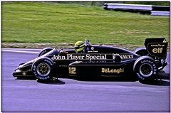 Ayrton Senna JPS Lotus Renault 98T F1.  Brands Hatch 1986 British GP (Antsphoto) Tags: uk slr classic ford car speed 35mm one lotus britain grand f1 racing historic renault grandprix prix turbo formulaone formula british hatch canonae1 1986 1980s motorsports formula1 senna gp brands groundeffects motorsport racingcar turbocharged autosport cosworth kodakfilm ayrton jps ayrtonsenna blackgold carracing blackandgold motoracing johnplayerspecial f1car formulaonecar britishgp dfv formula1car jpslotus teamlotus tamron70210mm f1worldchampionship lotusrenault grandprixcar antsphoto caracing lotusrenault98t canonae135mmslr sennalotus fiaformulaoneworldchampionship f1motoracing formula11980s anthonyfosh formula1turbo