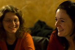 Maika a Jitka (jakub_hla) Tags: friends portrait people face fun 50mm prime restaurant evening pub czech f14 talk meeting pilsen german laugh nikkor plzen maika stammtisch jitka plze nikkor50mmf14af