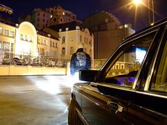 bad boy (Nickolas_MB) Tags: urban man black cars car night mercedes benz moscow german mercedesbenz s9500 wald badboy xenon nightcity w126 300sel