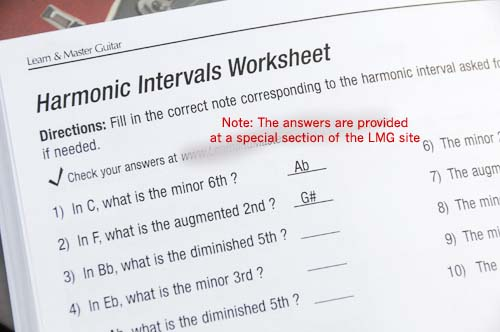 LMG lesson book sample worksheet