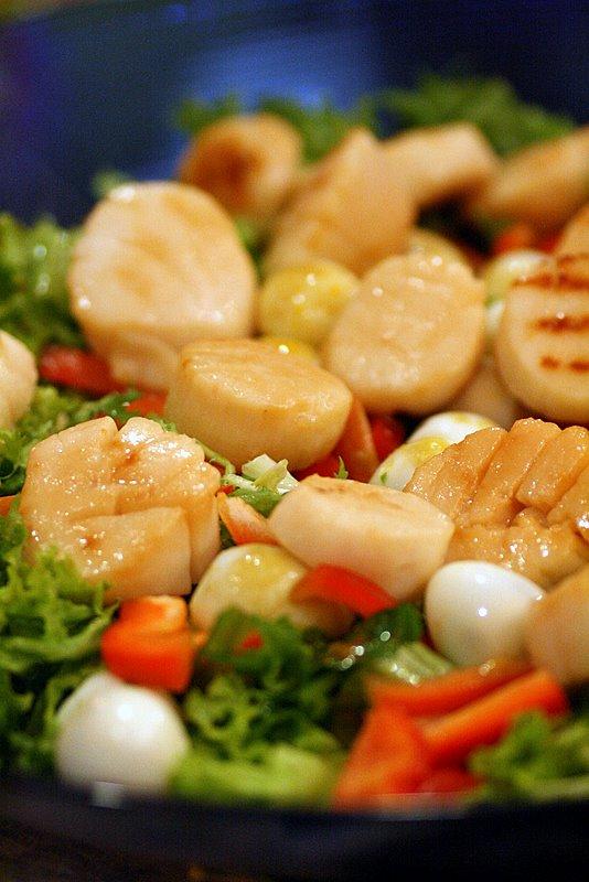 scallops salad