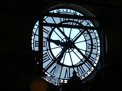 clock watching @ musee d'orsay, paris (black_coffee_blue_jeans) Tags: trip travel paris france clock museum french europe european tour musee museedorsay parisian dorsay wallclock francais