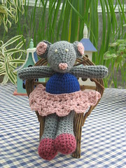 Mimi the Mouse (ladybumblebee) Tags: toy mouse crochet stuffedanimal plushie amigurumi pinktutu