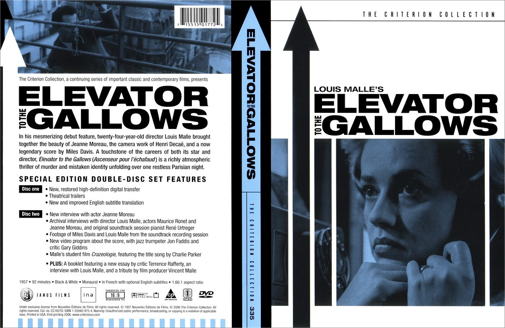 elevator to the gallows blu ray