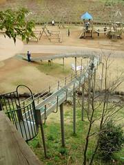 さんぶの森公園のローラーすべり台