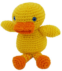 Amigurumi duckling  from a pattern