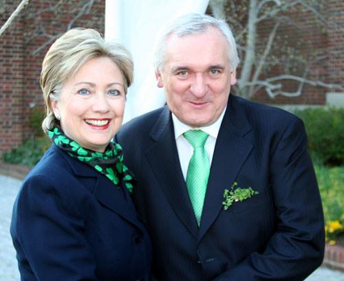 Hillary and Taoiseach Ahern