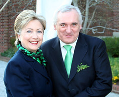 Hillary and Taoiseach Ahern