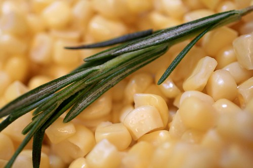 Rosemary and corn