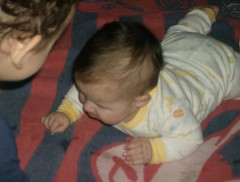 motyl 732 (motylman) Tags: pictures b baby playing fun big emily brother 5 sissy laugh months 18 graysen