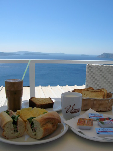 Breakfast in Santorini - Oia