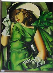"Tamara de Lempicka: ""Young Lady in Green Dress"" (londonconstant) Tags: ladies woman green window fashion shop retail painting dress artdeco londra tamaradelempicka retailtherapy lempicka costi fashionshop virtualmuseum fashionshops londonconstant"