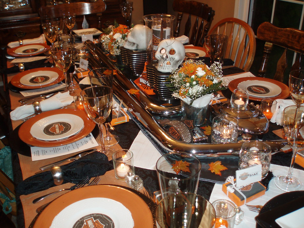 Harley Davidson Table Setting