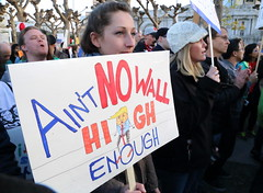 NoBanNoWall Protest San Francisco City Hall (SFPressPhotos/DavidToshiyuki) Tags: nobannowall no ban wall refugee immigrant immigration san francisco city hall protest muslim arab indian
