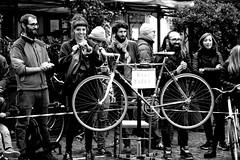 The joy of life .... (Roi.C) Tags: street people florence italy blackwhite black white nikon bicycle