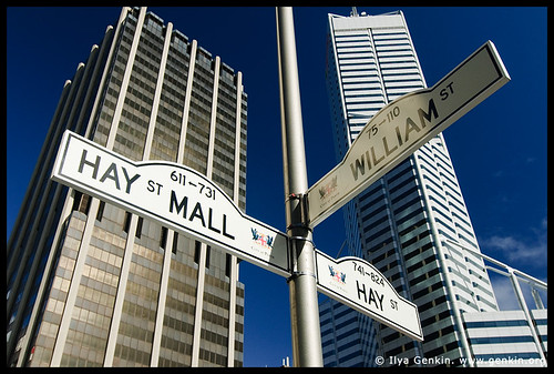 Corner of William and Hay Streets, Perth, WA, Australia