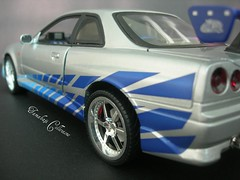 Too Fast Too Furious (2003) (tamahaji) Tags: blue skyline silver paul official nissan hard fast walker too find vii furious evo 118 r34 ertl 2f2f