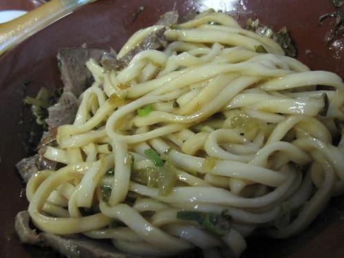 Dry Beef Noodle Soup (乾拌牛肉麵)