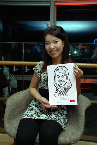 Caricature live sketching for TLC - 20
