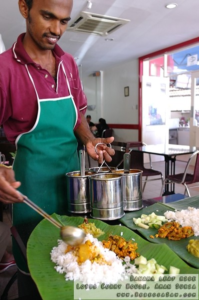 Banana leaf rice- Lotus Curry House, Aman Suria-0