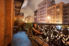 On the Chelsea Balcony | New York City (ldandersen) Tags: nyc newyorkcity newyork hotel chelsea chelseahotel brianamowrey