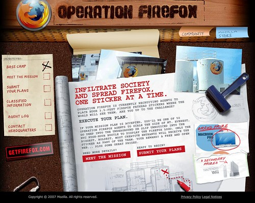 Operation Firefox homepage