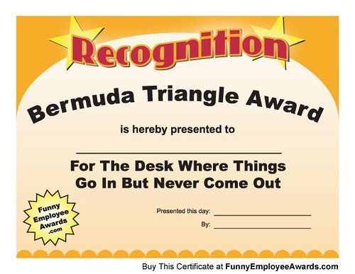 funny office awards. Fun Certificate - Funny Award