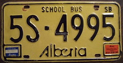 ALBERTA 1975-84 (SB) SCHOOL BUS plate and stickers