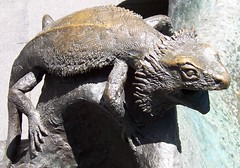 Frill-necked lizard on Children's Fountain