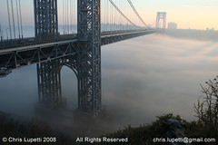 George Washington Bridge (Chris Lupetti: www.chrislupetti.com) Tags: georgewashingtonbridge lupetti chrislupetti fog water thehudsonriver fortlee newjersey diamondclassphotographer allrightsreserved20072008 photographybychrislupetti thebiggestgroup foggybridge chrislupettiphotography bridge bridges landscape thatluckyoldsun miracleonthehudson hudsonriver photo nature flickr flickrphotos art artist digitalphotography digitalphotographer artistic njartist bergencountyartist allrightsreserved flickrphotograph chrisjudelupetti naturephotography skyline skylines palisades interstate park newjerseyartist newyorkartist newjerseyphotographer newyorkphotographer artisticphotograph landscapes landscapephotography landscapephotographer canon