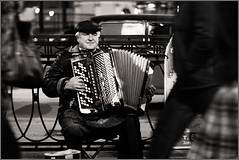Street musician (dyadyavasya) Tags: life street musician music man work stpetersburg loneliness russia player sidewalk genre bayan  passersby