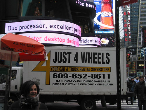 Just 4 wheels in Times Square