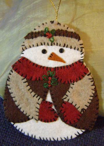 Snowman Ornament (Mother)
