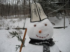 Snowman with a Kalpak