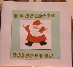 Messy Santa Card