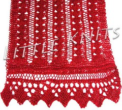 Cranberry Chain Wrap in Lace Wing