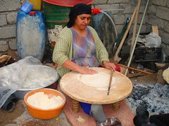 Baking bread (kezwan) Tags: woman bread kurdistan kurd kezwan 1on1people abigfave