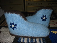 Crochet Boot Slippers